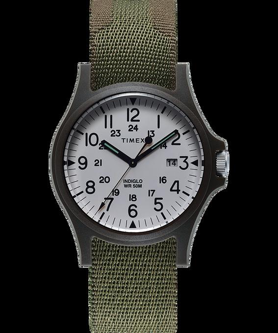 Zegarek Acadia z kopertą 40 mm i paskiem materiałowym Green large