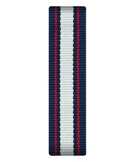 Niebiesko-biało-czerwony nylonowy przewlekany pasek  large