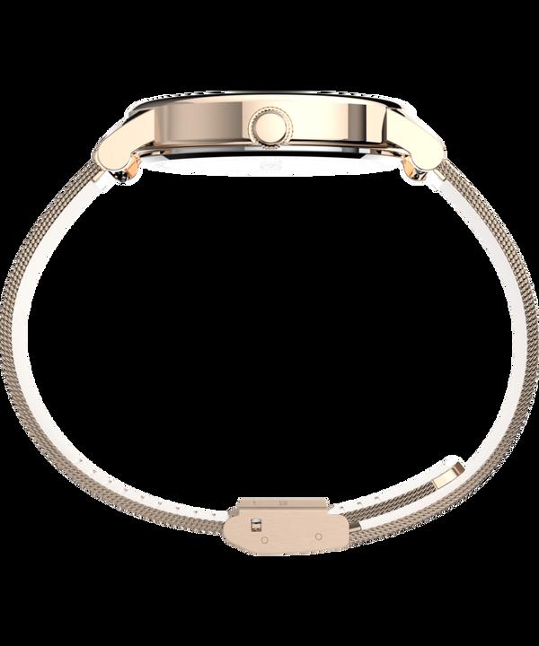 Zegarek Full Bloom 38 mm z siatkową bransoletą Różowe złoto/Różowy large