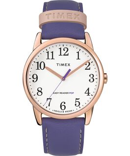 Easy-Reader-38mm-Exclusive-Color-Pop-Leather-Womens-Watch Różowe złoto/Fioletowy/Biały large