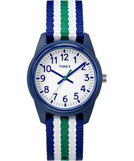 Dziecięcy zegarek analogowy z kopertą 30 mm i paskiem materiałowym  large