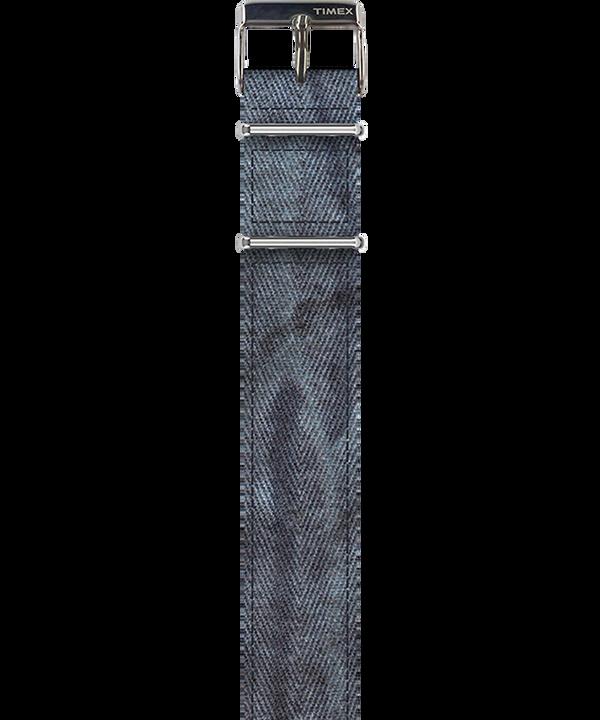 Dekatyzowany pasek z twillu Niebieski large