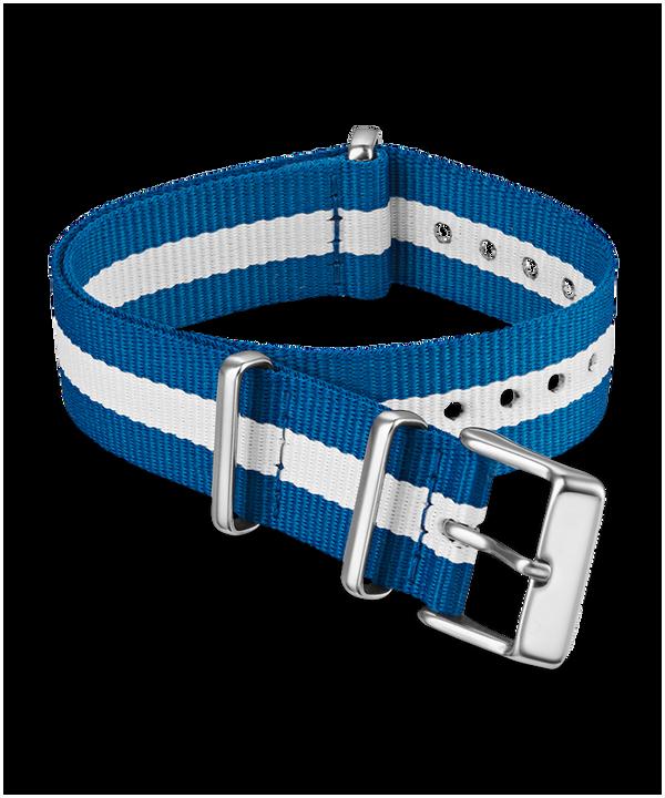 Dwuwarstwowy materiałowy pasek przewlekany 18 mm Niebieski large