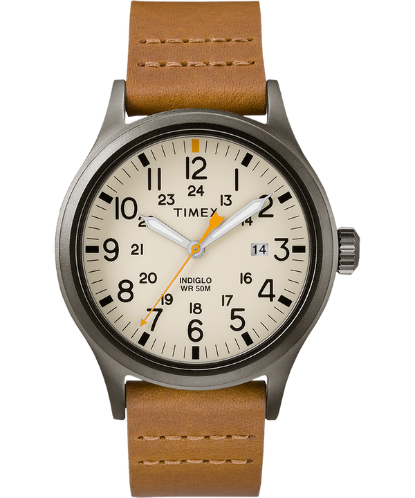 Allied 40mm Leather Watch  large