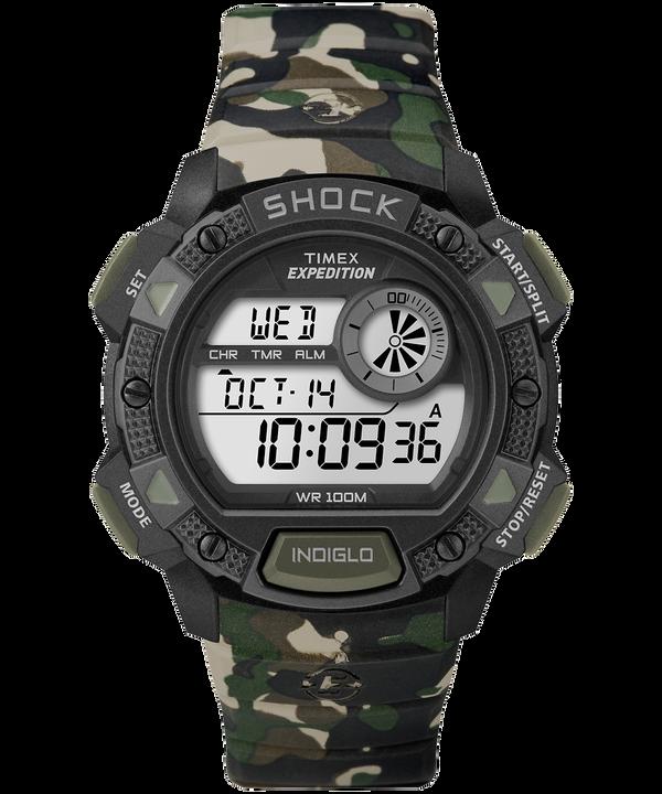 Zegarek Expedition Base Shock z kopertą 45 mm i paskiem z gumożywicy Camo large
