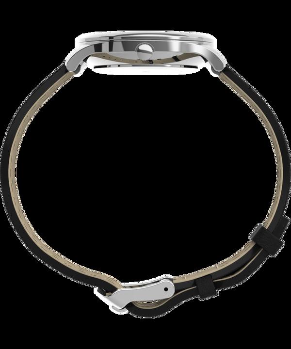 Zegarek Modern Easy Reader 32 mm z paskiem skórzanym Srebrny/Czarny/Biały large