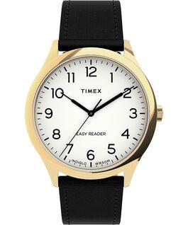 Zegarek Easy Reader Gen1 40 mm z paskiem skórzanym W kolorze złota/Czarny/Biały large