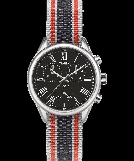 Weston Avenue 38mm Grosgrain Strap Watch Stainless-Steel/Black large