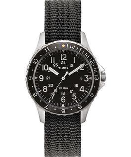 Zegarek Navi Ocean 38 mm z paskiem materiałowym Stalowy/Szary/Czarny large