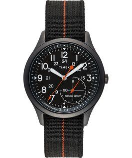 Zegarek IQ+ Move z kopertą 41 mm i paskiem z elastycznego materiału Czarny large