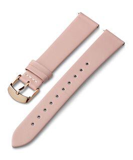Skórzany pasek 18 mm ze sprzączką w kolorze różowego złota Różowy large