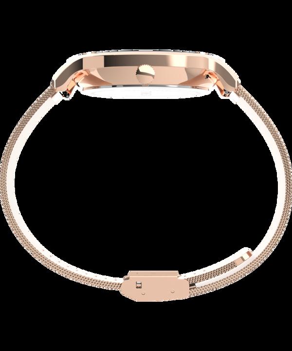 Zegarek Transcend™ Multifunction 38 mm z siatkową bransoletą ze stali nierdzewnej Różowe złoto/Różowy large
