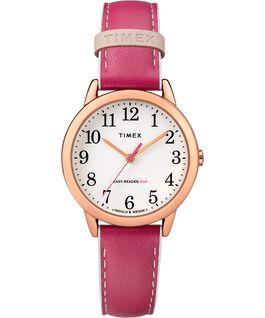 Easy-Reader-30mm-Exclusive-Color-Pop-Leather-Womens-Watch Różowe złoto/Różowy/Biały large