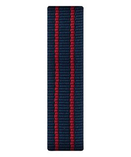 Czerwono-niebieski nylonowy przewlekany pasek  large