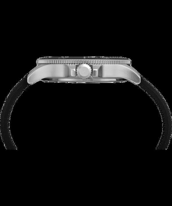 Zegarek Allied Coastline z kopertą 43 mm i silikonowym paskiem Silver-Tone/Black large