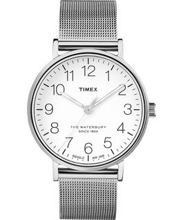 Waterbury 40mm Classic Stainless Steel Watch Stainless-Steel/White large