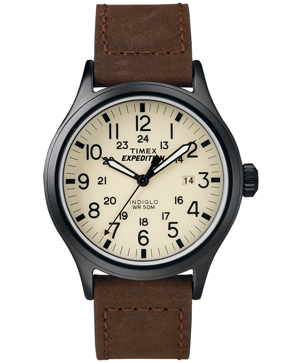 Zegarek Expedition Scout z kopertą 40 mm i nylonowym paskiem  Black/Brown/Natural large